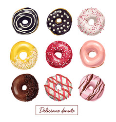 Sweet delicious hand drawn donut vector