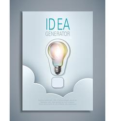 Template for design flyer brochures vector