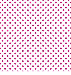 Tile pattern pink polka dots on white background vector