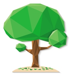 tree polygon b vector image