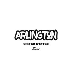 United states arlington texas city graffitti font vector