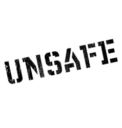 Unsafe rubber stamp vector