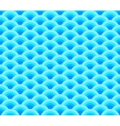 wave simple seamless blue pattern vector image