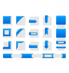Web wrap corners vector