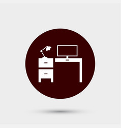 workplace icon simple office element school vector image