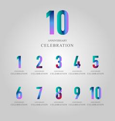year anniversary celebration set template design vector image