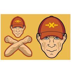 baseball cap head vector image vector image