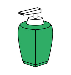 color silhouette with modern dispenser for cream vector image
