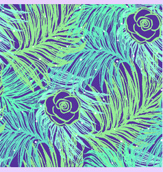 ink hand drawn summer seamless pattern vector image
