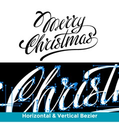 Merry Christmas lettering calligraphy the vector image