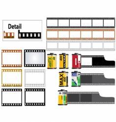 35mm film set vector image
