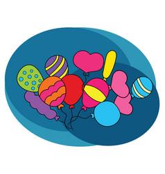 balloons design set vector image vector image