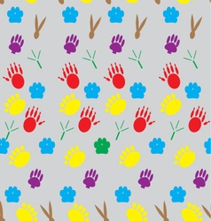 Color pattern footprints various mammals vector image vector image