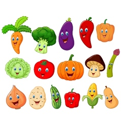 Cute vegetable cartoon character vector image