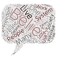 Develop A Belief System That Works For You text vector image vector image