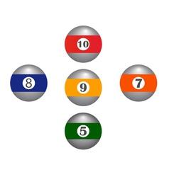 five balls vector image vector image