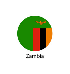 flag of zambia in the form vector image vector image