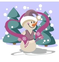 Snowman color 23 vector image