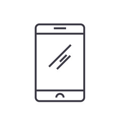classic smartphone line icon sign vector image