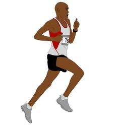 detailed of marathon runner vector image vector image