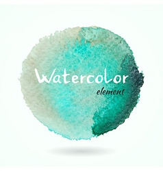 Watercolor Green and Brown Element vector image vector image