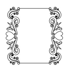 decorative card romantic frame floral border cute vector image vector image