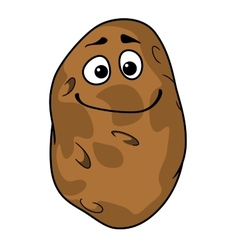 Goofy cartoon farm fresh potato vector image vector image