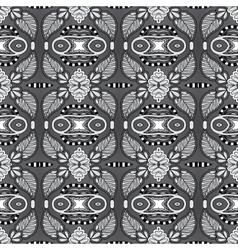 grey geometry vintage floral seamless pattern vector image vector image