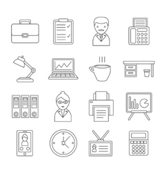 Office Line Icon Set vector image vector image