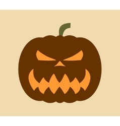 Pumpkin for Halloween vector image vector image