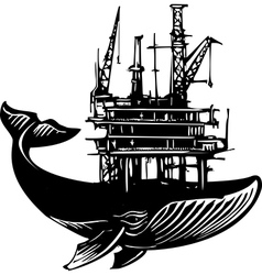 Whale Oil Rig vector image vector image
