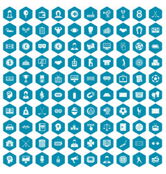 100 totalizator icons sapphirine violet vector image