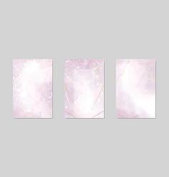 abstract dusty lavender liquid watercolor vector image