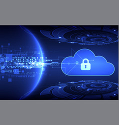 Abstract security cloud technology background vector