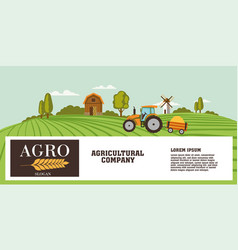 Agriculture banner or header design with copyspace vector