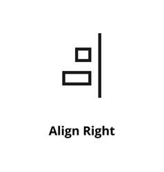 align right line icon vector image
