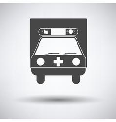 Ambulance car icon vector image