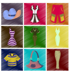 assembly flat shading style icons clothes vector image