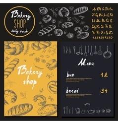 Bakery corporate identity Bakery shop set vector