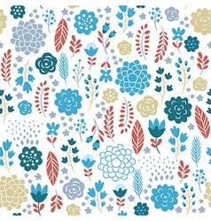 beauty seamless floral pattern vector image