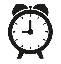 black clock on white isolated vector image