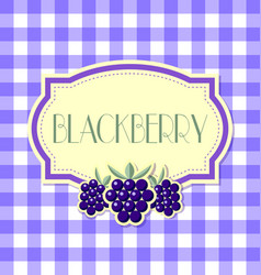 blackberry label in retro style on squared vector image