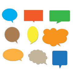 blank empty colors speech bubbles vector image