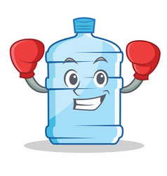 Boxing gallon character cartoon style vector