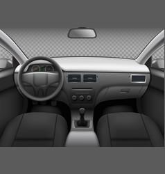 Car interior automobile realistic salon info vector