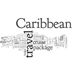 Caribbean travel package vector