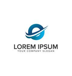 cative modern letter o logo design concept vector image