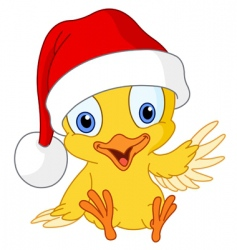 Christmas chick vector