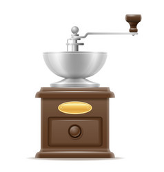 Coffee mill old retro vintage icon stock vector