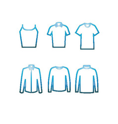 collection of pixel art icons of shirts vector image